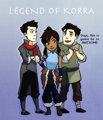 korra, mako and bolin