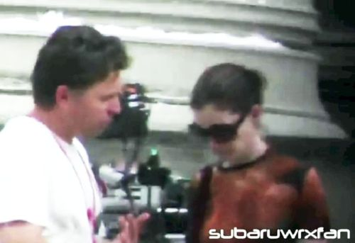 Anna Hathaway on set in Pittsburgh
