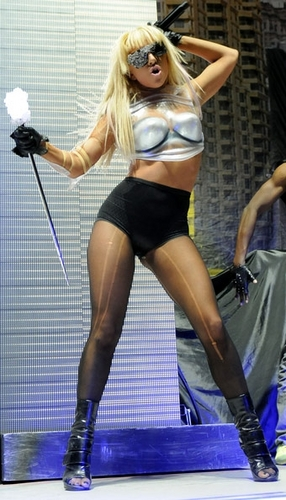 Gaga with a disco stick