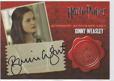 Ginny Weasley Authentic Autograph Card HP7 P1