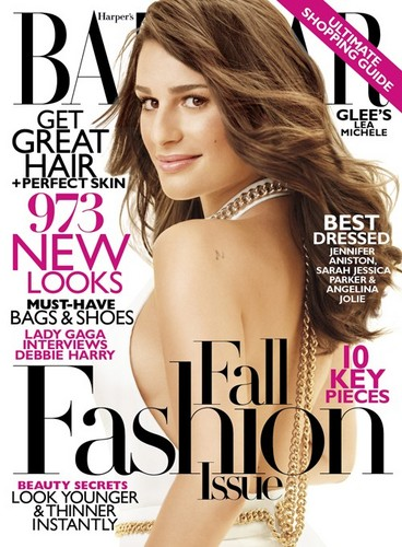 Lea Michele Covers Harper's Bazaar September 2011