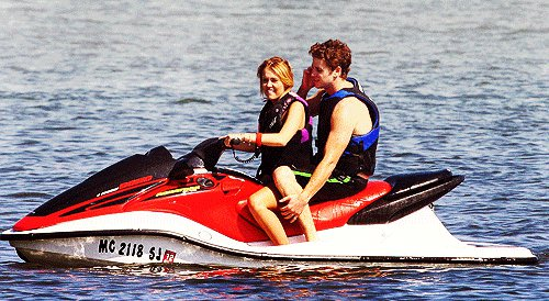 Miley and Liam in Orchard Lake, Michigan.