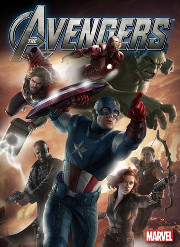 cool character poster for the avengers