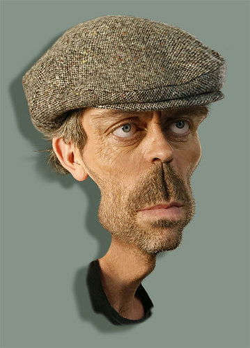 Hugh Laurie (HouseMD) caricatures