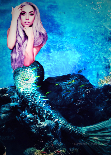 Lady Gaga as a Mermaid