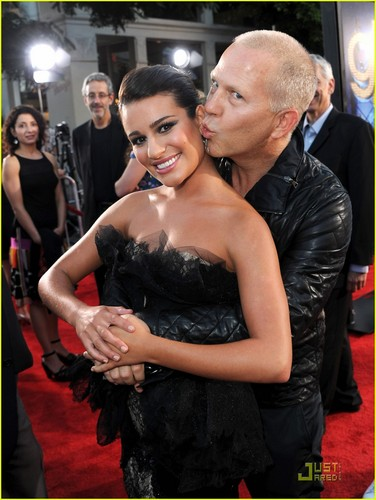 Lea Michele: 'Glee 3D' Premiere with Ryan Murphy!