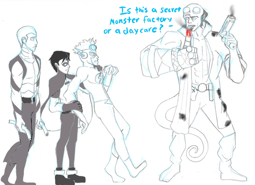 Young Justice Meets hellboy
