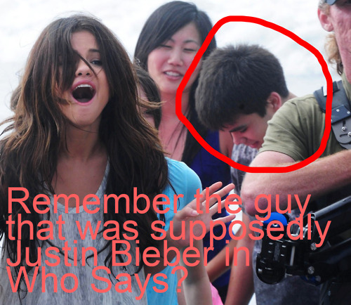 it wasnt justin bieber at selena who says musik video