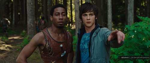 percy and grover looking at annabeth
