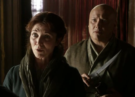 Catelyn Stark and Varys