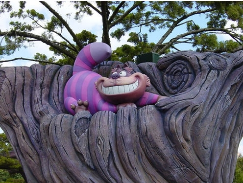Cheshire Cat in Disneyland