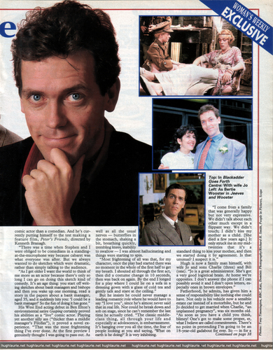 Hugh Laurie 1992 interview - Women´s Weekly