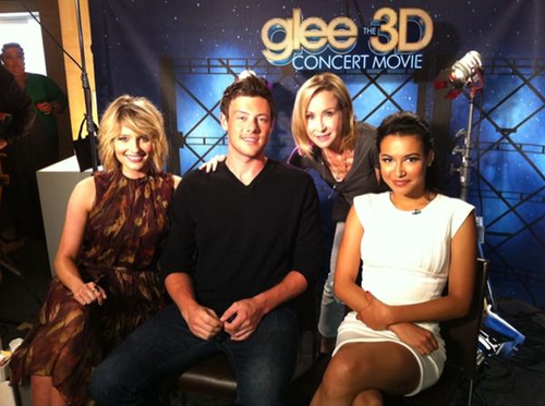Press for Glee 3D Concert Movie