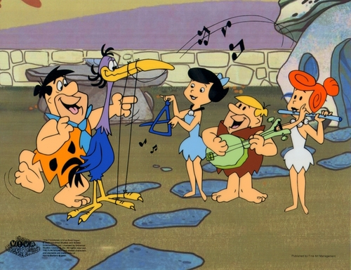 The Flintstones animation Sericel cel