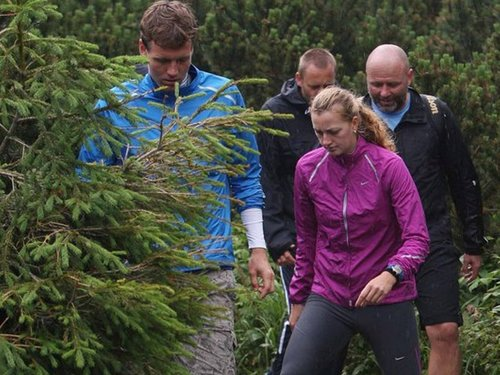 Tomas Berdych and Petra Kvitova in the High Tatras
