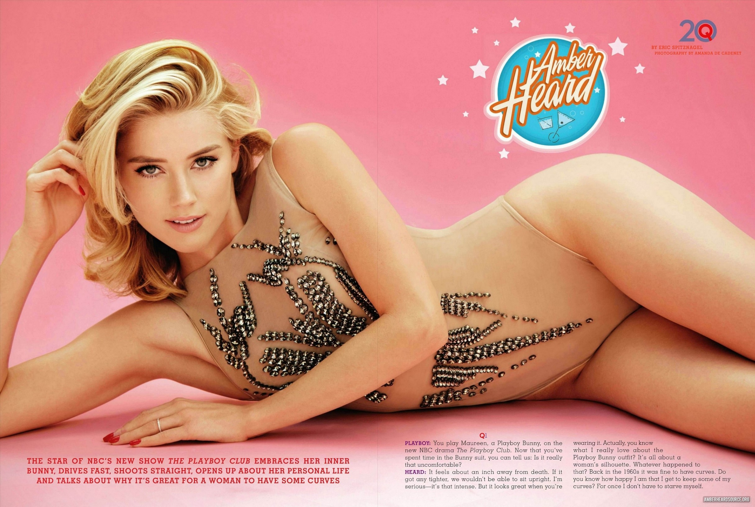 Amber Heard Nue editorial: playboy - september issue - amber heard photo
