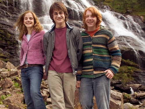 Harry, Ron and Hermione 壁紙